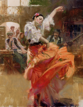 Flamenco in Red 46x36